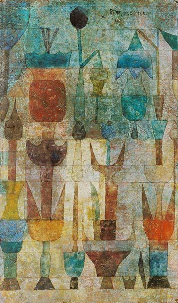 Afbeelding Paul Klee - Pflanzen früh am Morgen