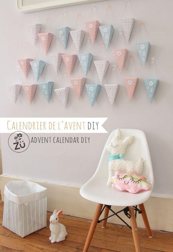 Zü Free printable advent calendar / Calendrier de l'Avent DIY (à télécharger)