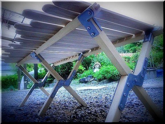 男キャンプだったはずが・・・。:自作 Byer風 ミドルロールトップ Table その1
