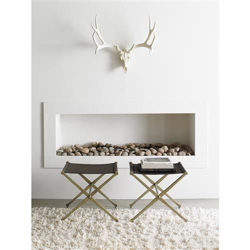 Artemis Industrial Loft Espresso Leather Metal Bench | Kathy Kuo Home