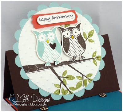 Owl Anniversary card - made one like this for my parents' 36th wedding anniversary!: Crafts Ideas, Cards Ideas, Anniv Cards, Owls Anniversaries, Carousels Cards, Anniversaries Gift, Birthday Cards, Owls Punch, Anniversaries Cards