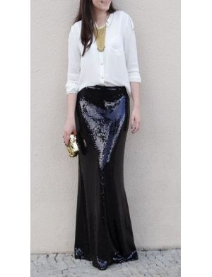 ODIN Sequin Maxi Skirt @Abigail Phillips Regan Truax://www.shopjessicabuurman.com