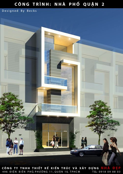 hiết kế nhà phố hiện đại quận 2 gồm 3 tầng lầu nhưng nhờ ý tưởng…