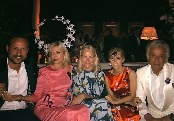 They celebrated the 50th birthday of Crown Prince Pavlos and 21st of Princess Maria-Olympia. Dutch Queen Maxima, Prince Haakon and Princess Mette Marit of Norway, Princess Michael of Kent and members of Greek royal family attended the birthday party held at a sprawling manor in Gloucestershire in UK. Crown Prince Pavlos turned fifty in May, and Princess Olympia will celebrate her twenty-first birthday on July 25