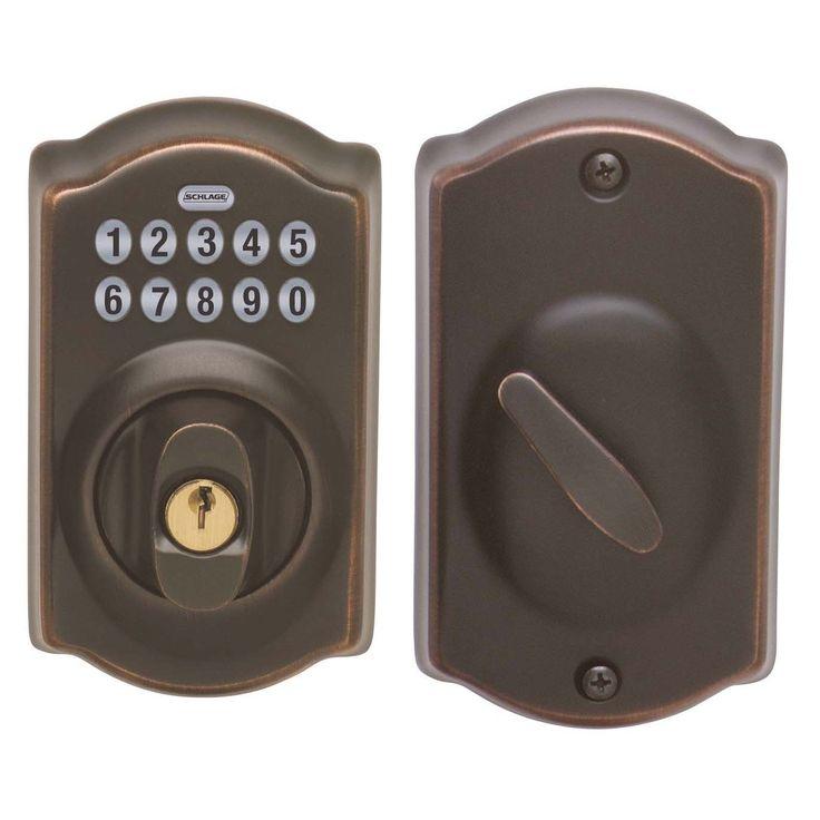 Schlage BE365VCAM716 Aged Bronze Camelot Keypad Deadbolt (Deadbolts)
