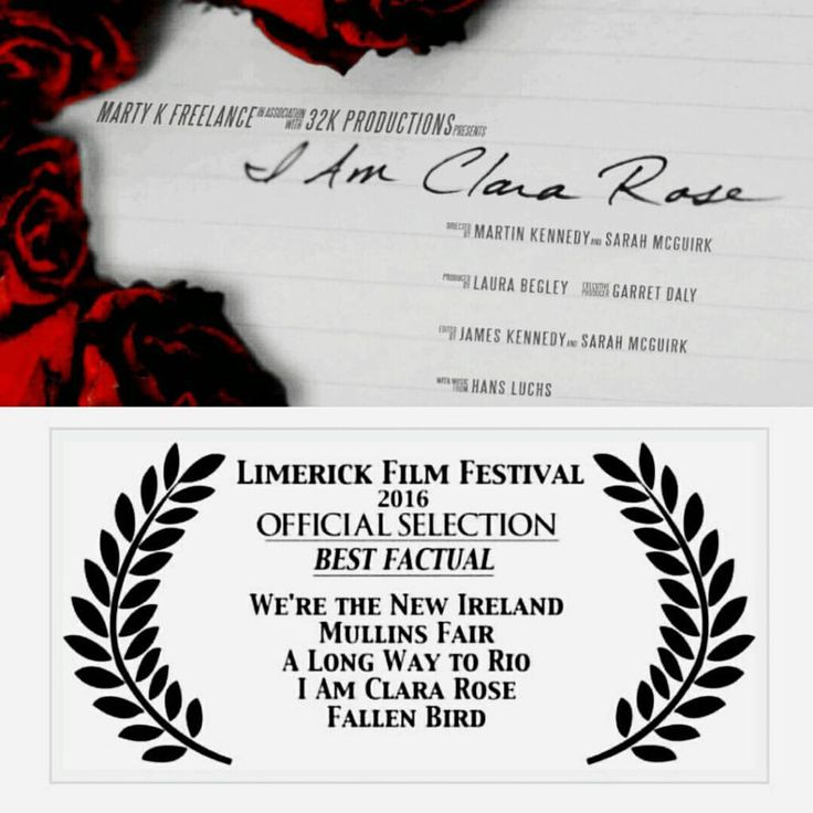 "The humbling short film made about myself, my work, and journey, from Northern Irish documentarist Martin Kennedy, is available publically for the first time following the festival circuit.  ""I Am Clara Rose"" premiered at Limerick Film Festival 2016 in competition for Best Factual. Wee!! http://vimeo.com/clararose/iamclararose"