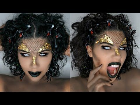 MEDUSA MAKEUP TUTORIAL with Snake Scales and Gold leaf