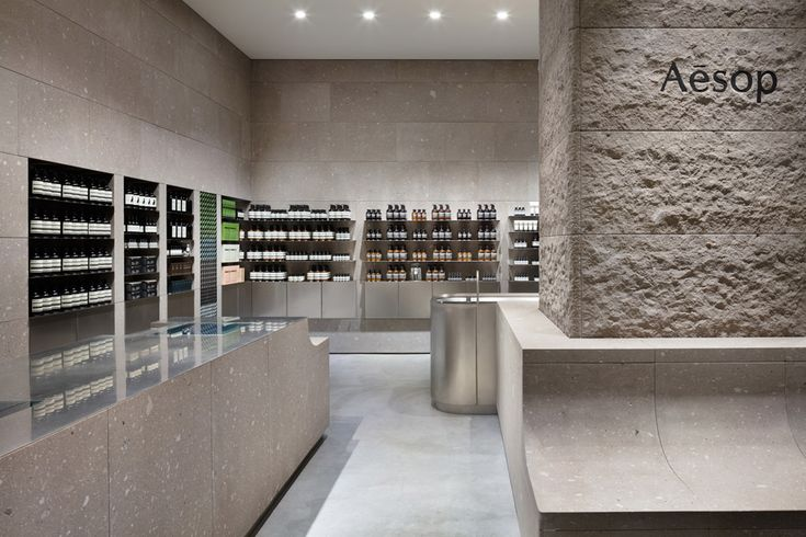 Case-Real references snowy mountains for Aesop Sapporo interior