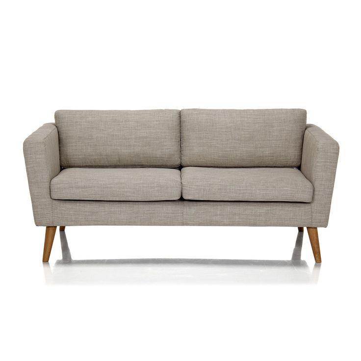 Canapé 2 places fixe style rétro Ecru - Pure - Les canapés en tissu - Canapés et banquettes - Canapés et fauteuils - Décoration d'intérieur - Alinéa