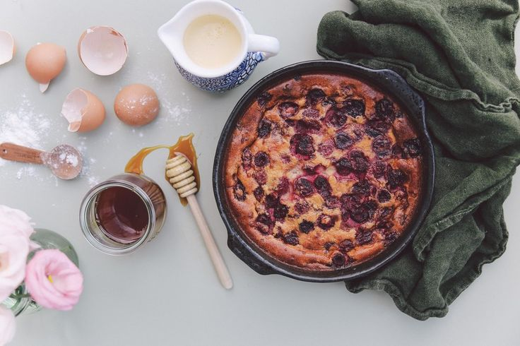 BERRY AND VANILLA CLAFOUTIS / HOMEGROWN KITCHEN