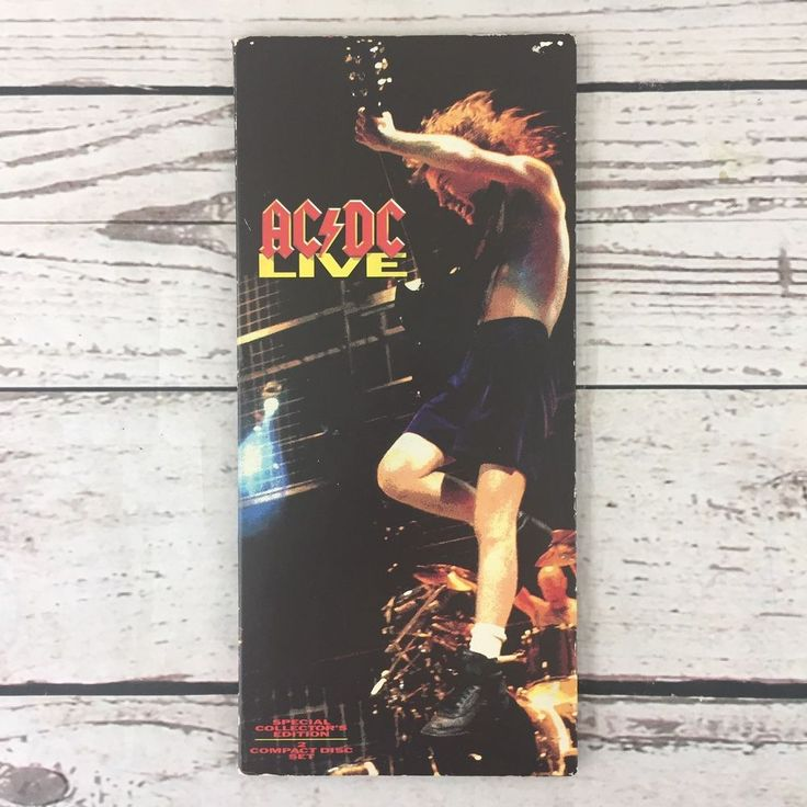 AC/DC Live 2 CD Special Collector's Edition Long Box Double CD with Angus Dollar #HardRock