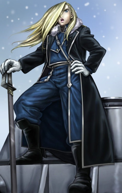"""General Olivier Mira Armstrong, The Northern Wall of Briggs. """"How can you follow a superior you have no faith in? That is not loyalty. That is mindless self-deception."""" Fullmetal Alchemist: Brotherhood"""