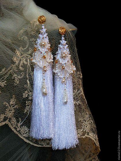 "Earrings handmade. Fair Masters - handmade earrings ""Fairy tale tessels"". Handmade."