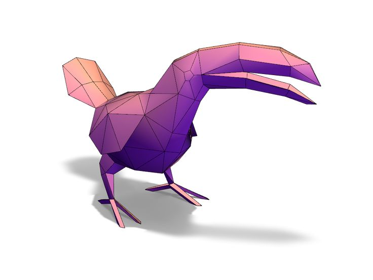 Toucan - a 3D model created with VECTARY - the free online 3D modeling tool #3Dprinting