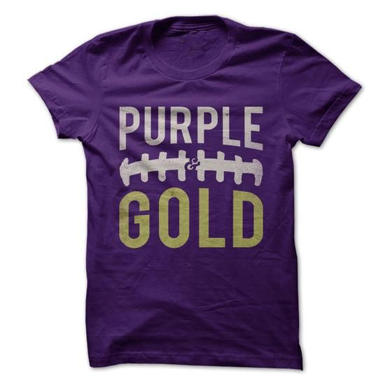 Purple and Gold Football T Shirts, Hoodies. Get it now ==► https://www.sunfrog.com/Sports/Purple-amp-Gold--Football.html?57074 $22