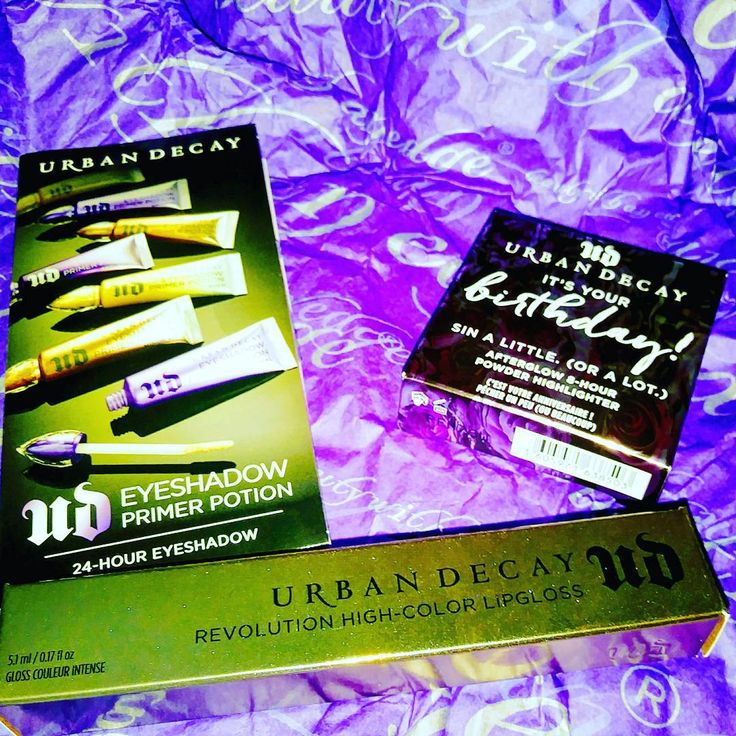 So in love with Urban Decay! Free full size bday highlighter in Sin, clearanced revolution lipgloss in Midnight Cowgirl, and a free sample of each primer potion. Shipping was entirely free and only took 3 days. :D #urbandecay #urbandecayjunkie #urbandecaysinhighlighter #urbandecaylipglosses #sin #Midnight Cowgirl #makeup #lipgloss #highlighter #primerpotion #soexcited #beauty http://ameritrustshield.com/ipost/1553939989787560189/?code=BWQtDAFj8j9