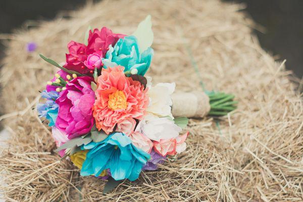 Bouquet de novia en papel