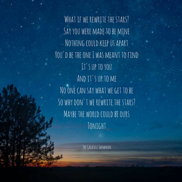Greatest Song Lyrics Quotes: Rewrite The Stars-The Greatest Showman