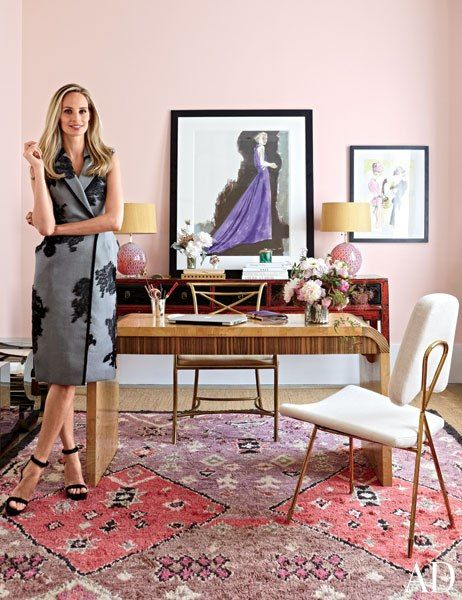 Lauren Santo Domingo in the Moda Operandi offices / Architectural Digest / Manhattan