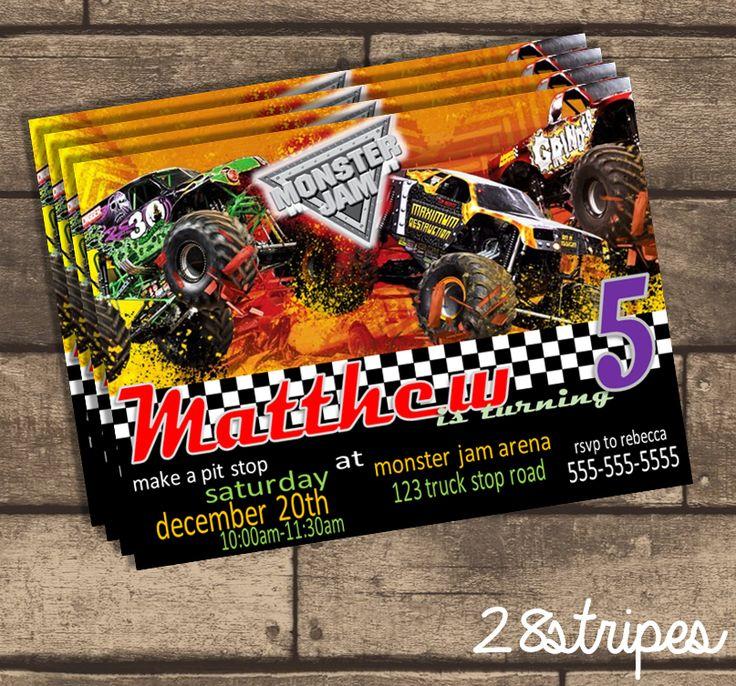 Monster Jam Themed Monster Truck Birthday Party