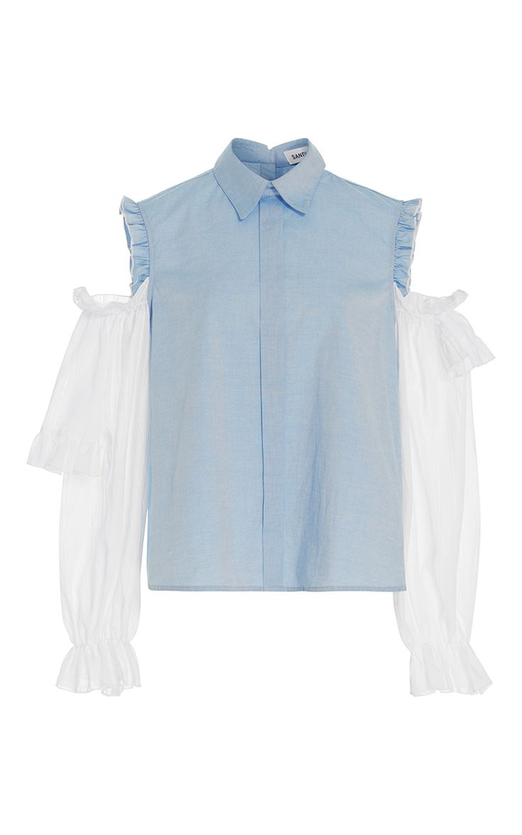 Flipper Cold Shoulder Shirt by SANDY LIANG for Preorder on Moda Operandi