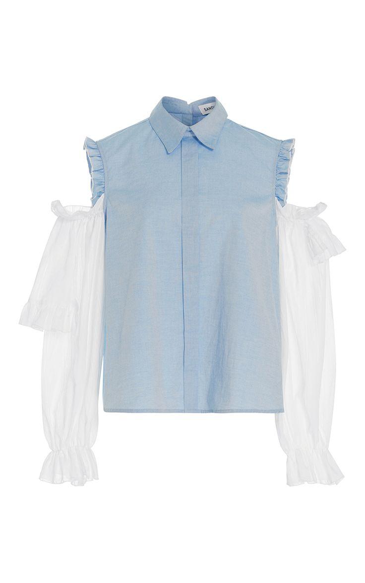 Flipper Cold Shoulder Shirt by SANDY LIANG for Preorder on Moda Operandi