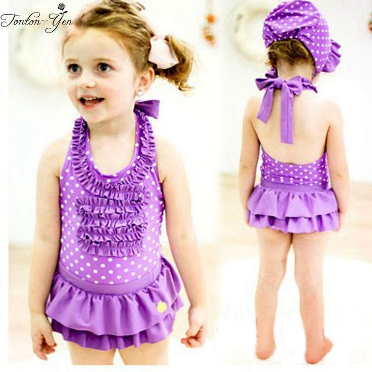 Bandage one piece swimsuit wrinkly swimming suit for kids girl toddler girl bathing suits clothes kids swimwear with swimming