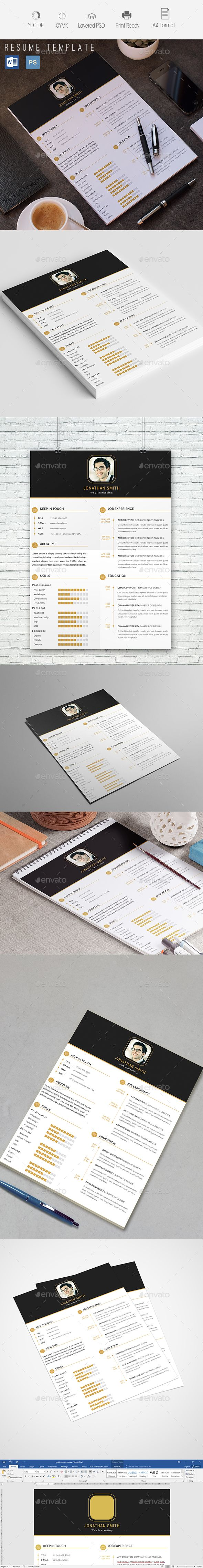 FEATURES RESUME Fully Layered PSD fileFully Customizable