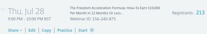 If you're registered for The Freedom Acceleration Formula webinar today then please remember we ONLY have 100 seats available and 213 people registered so far...  http://ift.tt/2abZEBt  The training starts at 4pm Eastern / 9pm UK time... so make sure you login to the webinar platform 20-30 minutes early to guarantee your spot...  Here's what you're going to learn:   How-To Earn $10000 Per Month In 12 Months Or Less By Building Your Own 90% Automated T.L.A.S. Sell Or Sponsor System   How To…