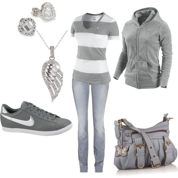 Nike, created by #leah-strid on #polyvore. #fashion #style #NIKE dVb Victoria Be