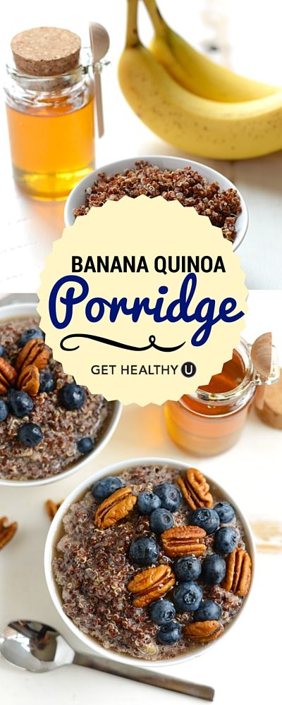 A healthy breakfast is key to starting your day right! Try this gluten-free banana quinoa porridge.