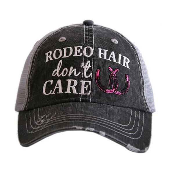 Katydid Collection Gray & Hit Pink 'Rodeo Hair' Trucker Hat ($17) ❤ liked on Polyvore featuring accessories, hats, embroidered trucker hats, truck caps, embroidery hats, pink trucker hats and trucker hats