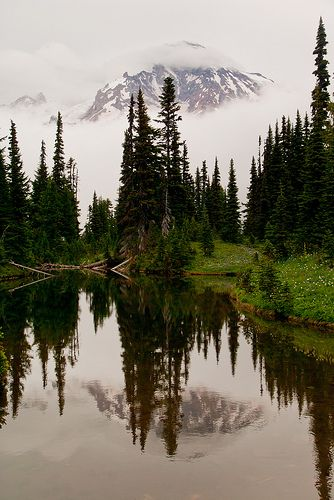 Mirror Lake - Mount Rainier National Park, Washington