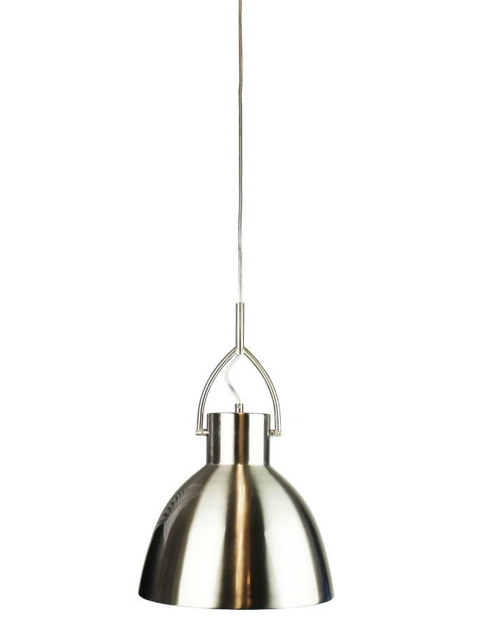 Perno Brushed Chrome Pendant Light Large - Chic Chandeliers