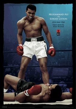 Ali standing over Sonny Liston