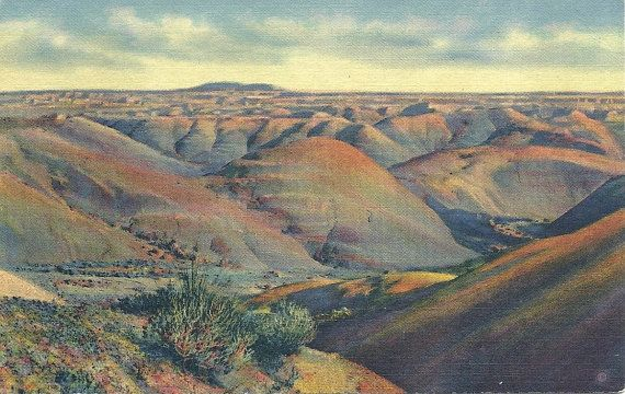 1930s Vintage Painted Desert Arizona by DecadesVintageOnEtsy
