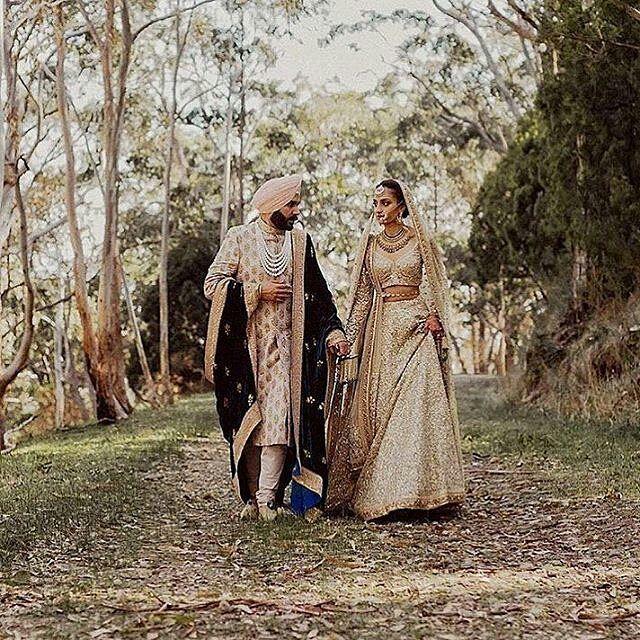 @Regrann from @bridesofsabyasachi -  Gorgeous #Sabyasachi style! Think you'd take your bridal wear out for a walk?  #indianwedding #IndianBridesAroundTheWorld  #IncredibleIndianWeddings #TheWorldOfSabyasachi Photographer @danellebohane @sabyasachiofficial - #regrann