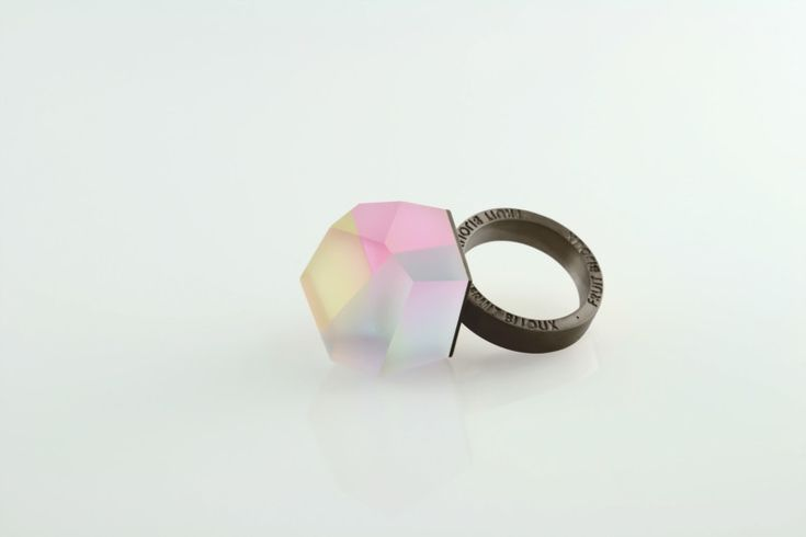 Fruit Bijoux, VU, black ring, multicolor. To download high or low resolution product images view Mondrianista.com (editorial use only).
