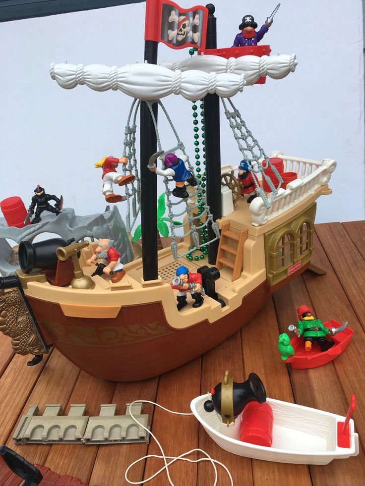 Fisher price pirate ship and extras by HollyWouldFind on Etsy