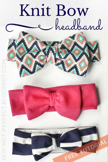 Bow Headband Tutorial Using Knit Fabric