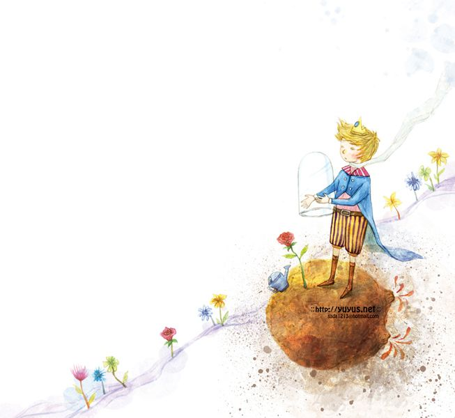"""""""Le Petit Prince"""" dessin de Yuyu Jeong, artiste sud coréenne."""