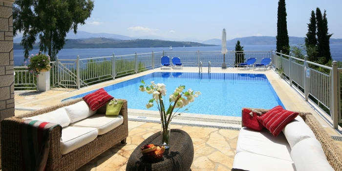 Gallini, Kerasia Villas, Corfu - which seat is yours?