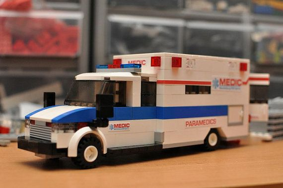 Blue Custom City Ambulance Model built with by ABSDistributors