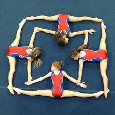 Cool gymnastics shape...#gymnastics