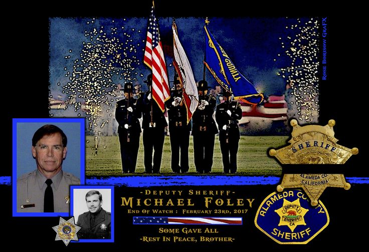 Sheriff Gregory Ahern, of the Alameda County Sheriff's Department in California sadly reports the death of Deputy Sheriff Michael Fole    http://www.lawenforcementtoday.com/memoriam-deputy-sheriff-michael-foley/