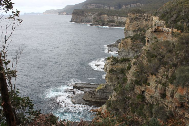 Tasmania's Eaglehawk Neck, from convicts had little chance of escape.