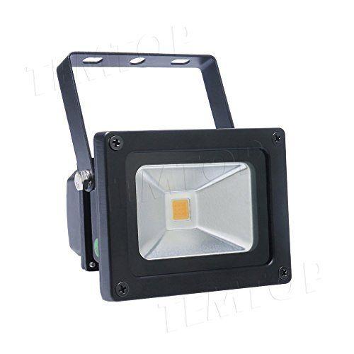 GOGO GO Eclairage Extérieur Imperméable 10W Blanc Chaud 3500 Lumière Blanche du Jour Projecteur LED Portable Equivalent à Ampoule Halogène…