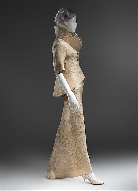 Dinner suit (image 1) | Charles James | American | 1956 | rayon/cotton | Brooklyn Museum Costume Collection at The Metropolitan Museum of Art | Accession Number: 2009.300.824a, b