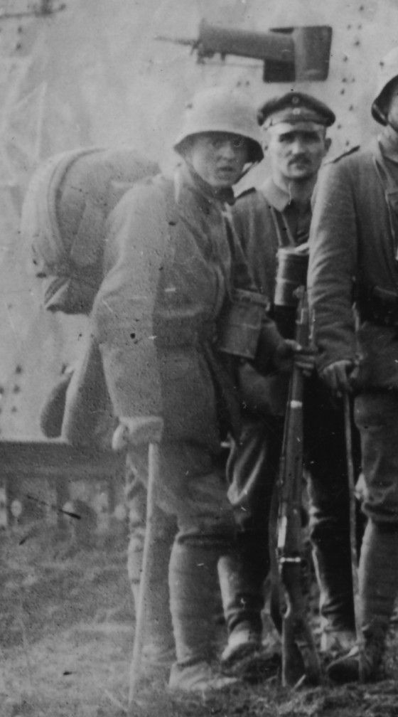 WWI, German soldier armed with flamethrower, by Thomas Wictor, Flickr
