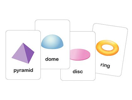 3d Printable Shapes Flash Cards - Mr Printables for use with geometric solids